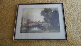 Framed Reproduction of 'Dedham Lock and Mill' by Constable