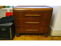 Utility furniture, vintage chest of drawers mid century CC41