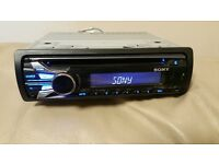 CAR HEAD UNIT SONY CD MP3 PLAYER WITH USB AUX AND RCA PRE OUT 4 x 52 WATT STEREO AMPLIFIER AMP