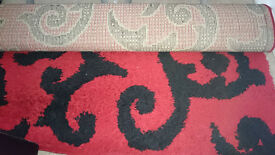 Rug black and red