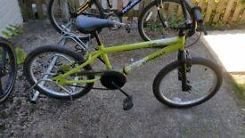 indi katapult bmx in green its got 20 inch wheels
