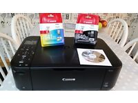 Canon MG4250 printer, complete with XL black & colour replacement cartridges