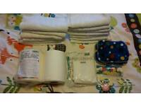 Terry nappies set including liners