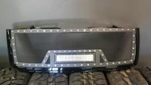 BRAND NEW 2007,2008,2009,2010,2011,2012 & 2013 GMC MESHED LED GRILL WITH FULL SHELL!-NO CUTTING REQ!