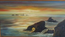 Original oil painting of lands end