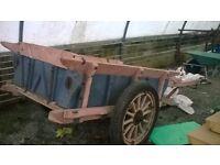 wooden donkey cart