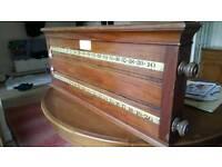 Snooker. / billiards antique roller scoreboard