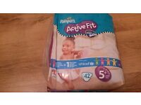 Nappies Pampers Active fit Dry Max 5+