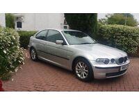 2004 BMW 316 TI SILVER FSH **£1595 AUDI A3 GOLF VW FOCUS MEGANE C4 MAZDA3 ASTRA SIZE CARS*