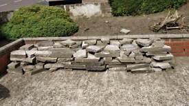 Crazy paving stones / slabs.