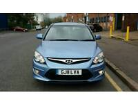 Hyundai i30 2011 reg in blue with 45000 miles