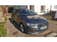 Audi A3 2.0TDI 2014, 3 door, full leather, grey
