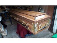 £500 ono Coffin american style casket unused