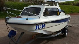 14ft fully kitted dory cabin boat