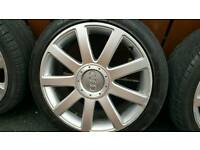 Audi alloys and tyres 18 inch