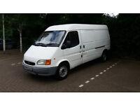 Man and Van. Ford Transit. LWB Semi-High. Panel Van. 1.5 Ton Max Useful Load.