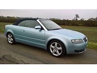 AUDI A4 Convertible Cabriolet 1.8T Sport Auto CVT Stunning FSH, Low miles 69k, MOT, Leather, not BMW