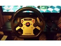 Fanatec csr wheel with elite pedals and elite shifter
