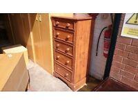 Vintage Oak Tallboy Drawers