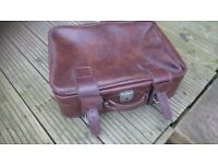 Vintage leather-look suitcase,