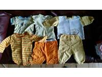 Assorted clothes from newborn to 18 months
