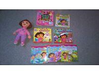 Dora the Explorer doll and books