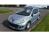 PEUGEOT 207 1.6 HDI SW SPORT(60)Plate,Alloys,Air Con,Glass Roof,Full Service History,Very Clean