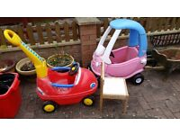 Ride-on cars for toddlers - free