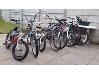 Eight Bicycles , different sizes, good condition, good price