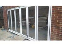 Used 6 panel Upvc bifold doors 4250x2090