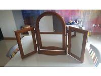 Pine Dressing Table Triple Mirror