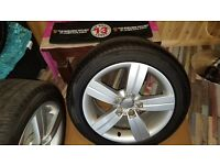 Audi TT Rims .. 4 mint rims with near new tyres.225x50R x 17 M+S tyres £450 ono..