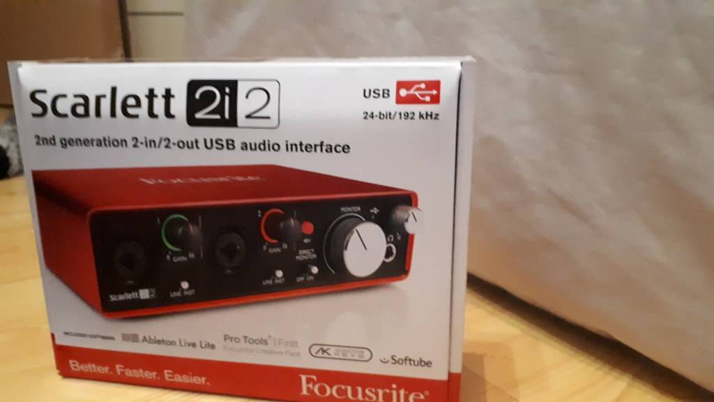 Focusrite Scarlett 2i2 (2nd Gen) USB Audio Interface with Pro Tools | First  | in Greenwich, London | Gumtree