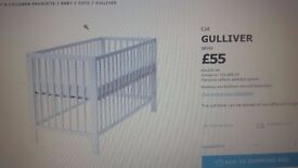 IKEA cot with mattress at low price
