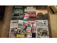 Evo, Octane, Land Rover, Bikes Etc, Vantage & Men's Health magazines