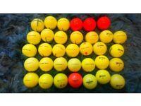 34 srixon mixed coloured golf balls