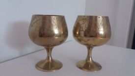Vintage Pair of Silver plated Goblets