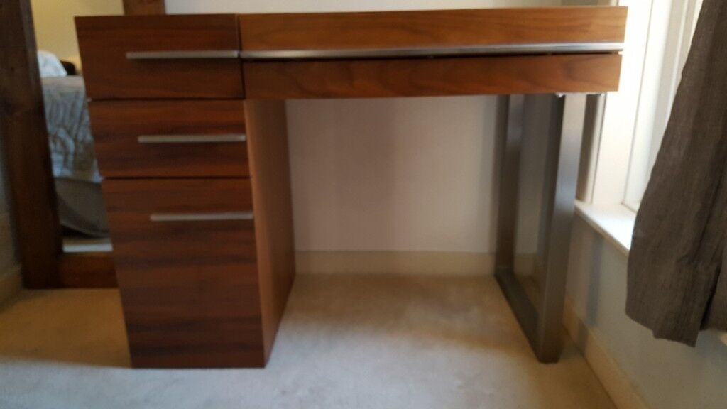 Dressing Table With Mirror From Dwell In Walnut