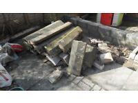 Free: Concrete coping stones (reclaimed)