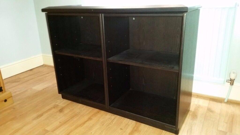 Black quality kitchen shelving unit