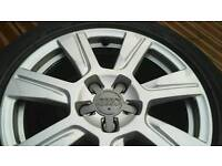 """Audi 17"""" genuine alloys with all good tyres"""