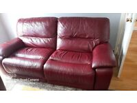 Leather recliner sofas 3 + 2 +pouffe