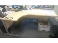 Left Hand Cantilever Style Table x 1