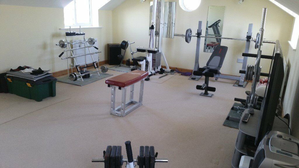 Home gym equipment includes running machine in crowle