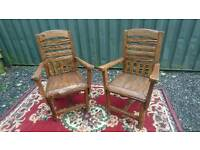 Garden Chairs X 2 teak wood