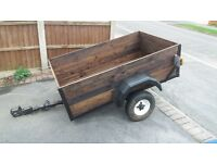 Wooden Box Trailer 5ft x 3ft Used