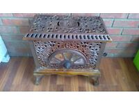 FRENCH PIED SELLE WOODBURNER ART NOUVEAU