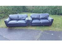 Leather sofa 2x2 ( free delivery )