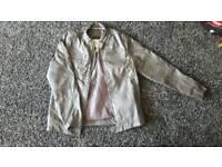 Grey leather jacket 12-13 years