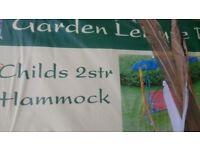 Brand new childs 2 seater hammock